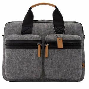 Aldo Ediliri Messenger Grey and Brown Bag